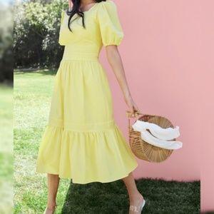 Rachel Parcell Yellow Ruffle Dress